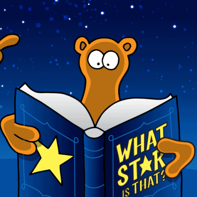 I hope 'What Star is that?' is in your school Library.